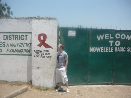 Noel Carroll of EIL visiting an organisation in Lusaka, Zambia